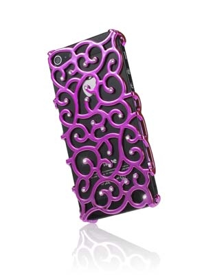 iPhone 5 hoes Diamond Cover Crystal Bling Pink
