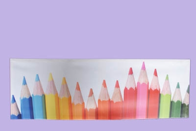 Canvas print pencils single row