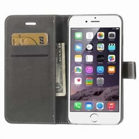 MW Wallet Book Case Zwart voor Apple iPhone 6 Plus