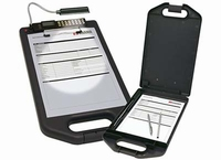 Clip Board met opbergvak, Solar Calculator en LED Lamp