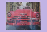 Canvas print Cuban car (groot)